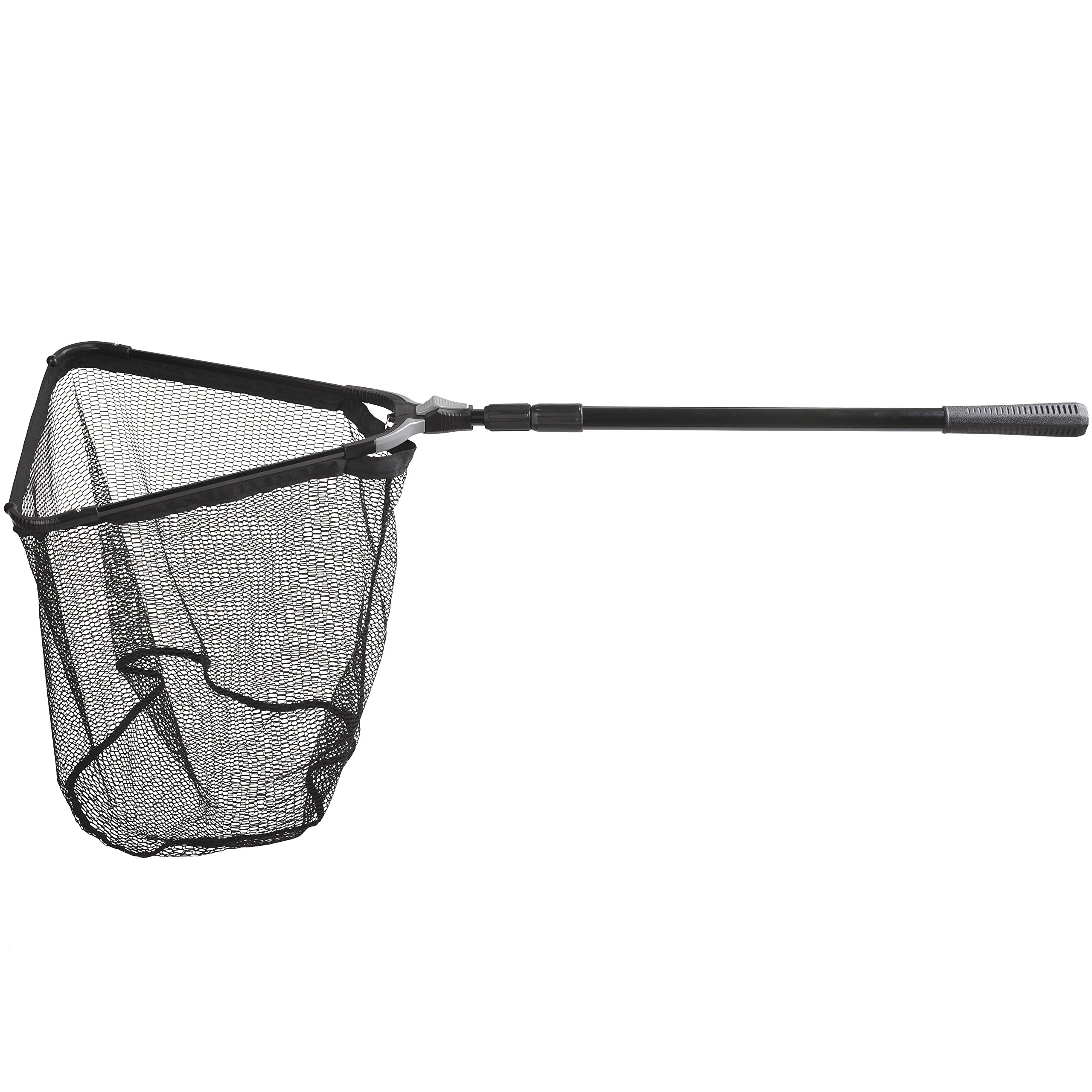 Fiblink Folding Aluminum Fishing Landing Net Fish Net with Extending Telescoping Pole Handle (45-80 inches)