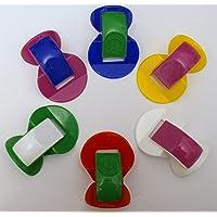 Gewa Neusfluiten, set van kunststof, diverse kleuren, 6 neusfluiten in een voordeelset, het populaire leuke instrument…
