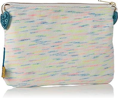 Orla Kiely Womens Birdie Applique Nylon Pencil Case Wallet Khaki