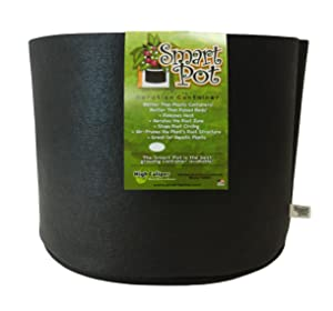Smart Pots 5-Gallon Smart Pot Soft-Sided Container, Black