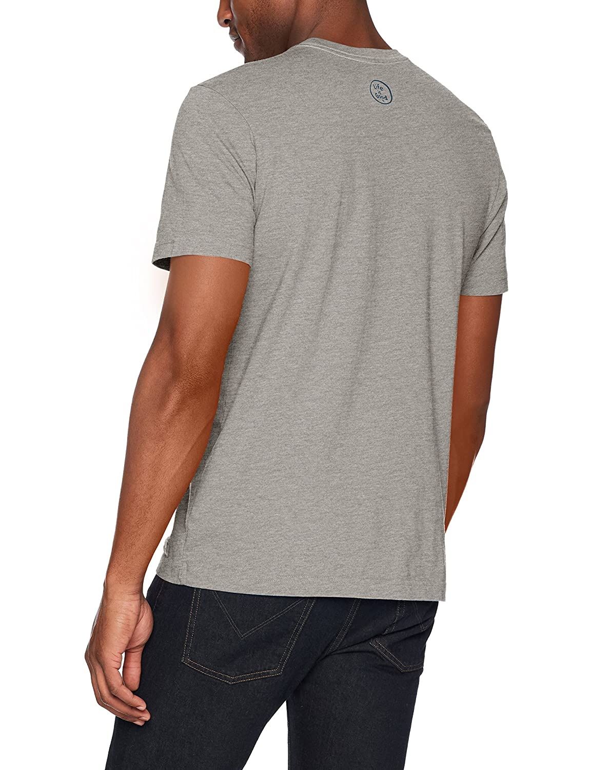 Life is Good Mens LIG Coin Crusher Tee