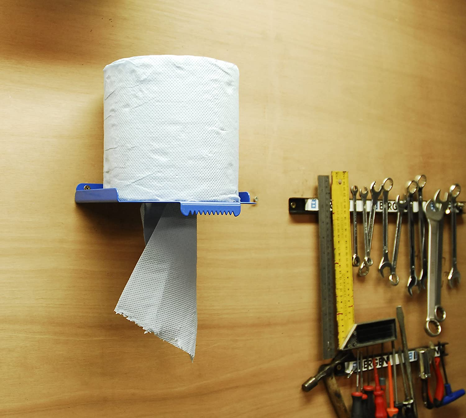 Centrefeed Blue Roll Wall Mounted Dispenser Stand Paper Towel Tissue Holder JBI