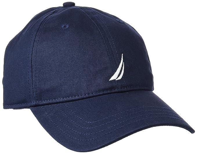 c7641b64f Nautica Men's Standard Classic Logo Adjustable Baseball Cap Hat, Castle  Rock, One Size at Amazon Men's Clothing store: