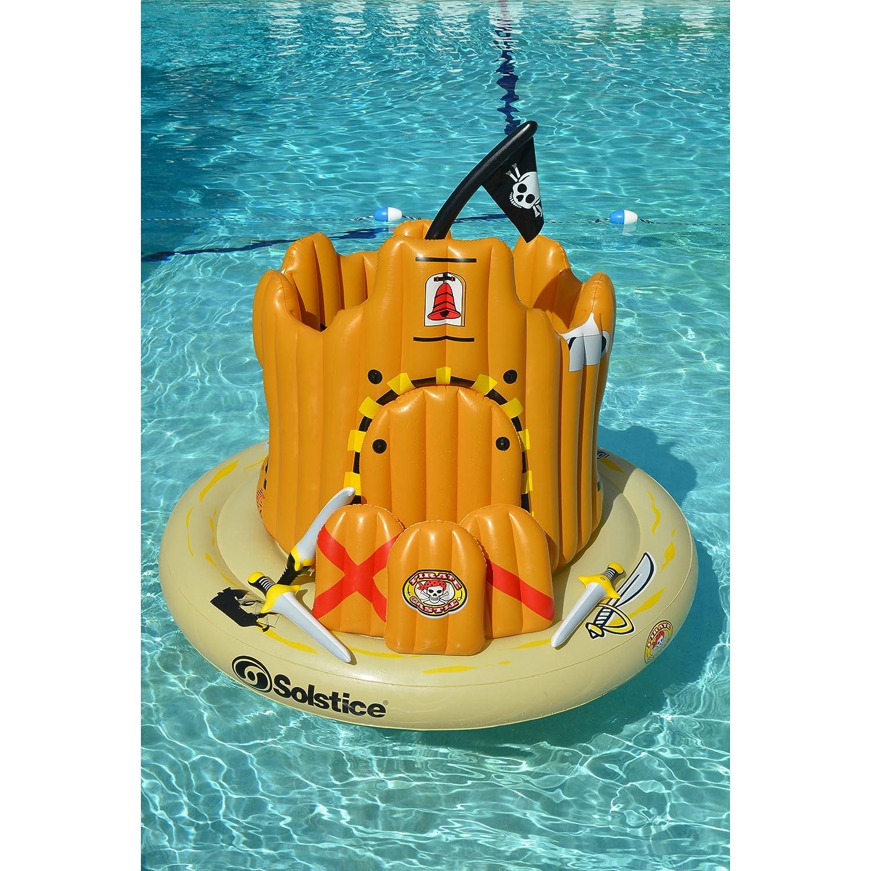 Amazoncom Bestchoiceforyou Pirate Island Pool Island Floating Raft