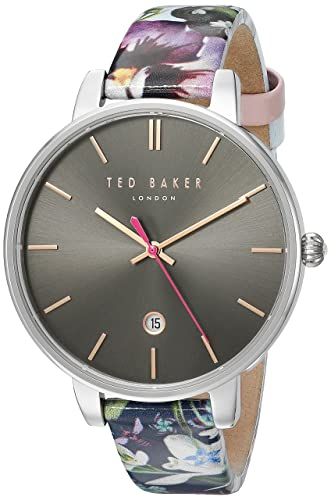 e3e5a4929efcb Ted Baker Womans Kate Floral Strap Black Dial TE10031549  Amazon.co.uk   Watches