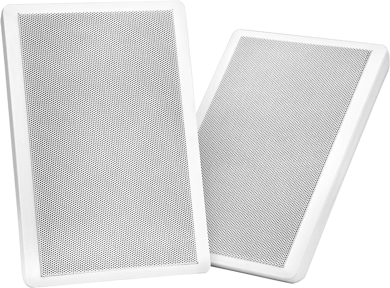 Pareja de altavoces Pronomic FLS-540 WH planos para pared en blanco 100 Watt