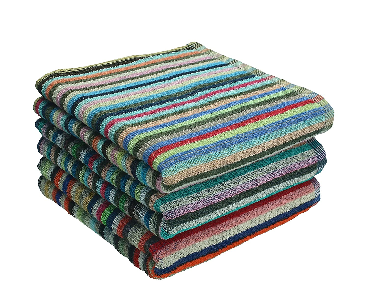 Betz 3 Piece Towel Set Striped Work Towel Kitchen Towel Size 50x90 cm