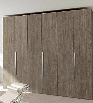 Innentüren eiche grau  Kleiderschrank 6 Türen Eiche grau. Struktur und Türen in Eiche ...