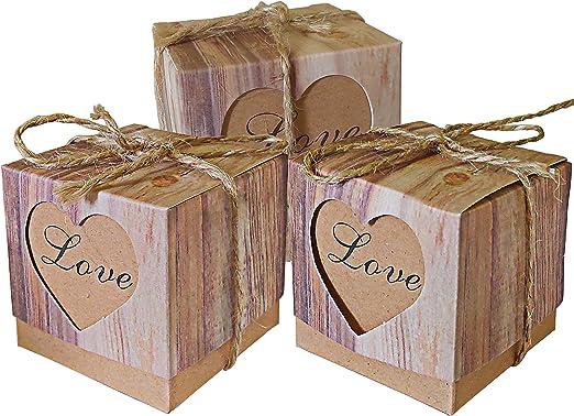 20-200pcs Cute Candy Boxes Pillow Gift Box Wedding Party Favor Kraft Paper