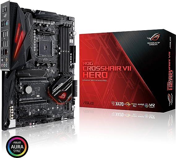 ASUS ROG Crosshair VII Hero AMD Ryzen 2 AM4 DDR4 M.2 USB 3.1 Gen2 ATX X470 Motherboard