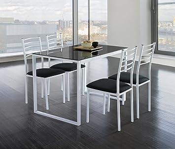 Ensemble Table Et Chaise Cuisine.Kit Closet Noa Ensemble Table De Cuisine Et 4 Chaises En