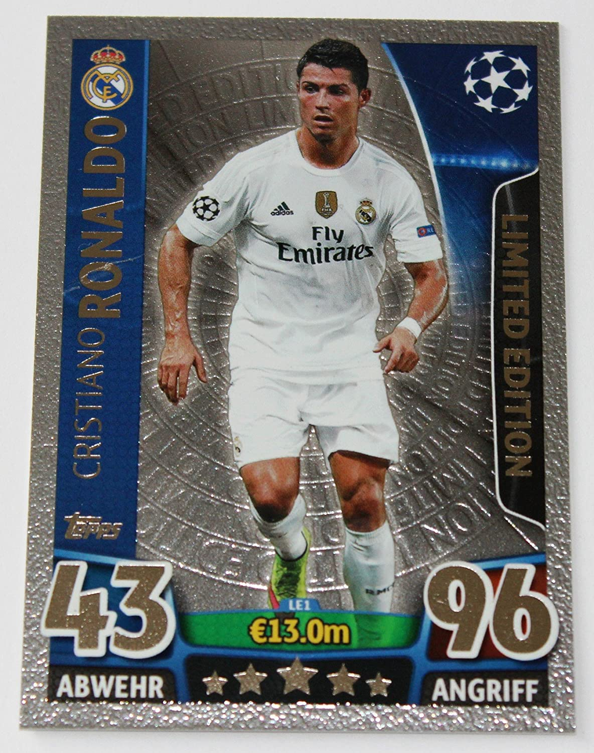 Match Attax Champions League 2015 2016 TOPPS Cristiano Ronaldo Limited Edition