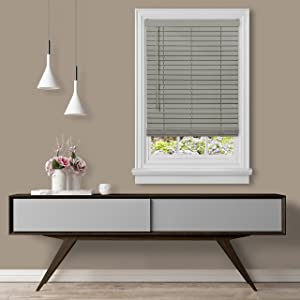 Achim Home Furnishings, Grey Cordless GII Madera Falsa 2