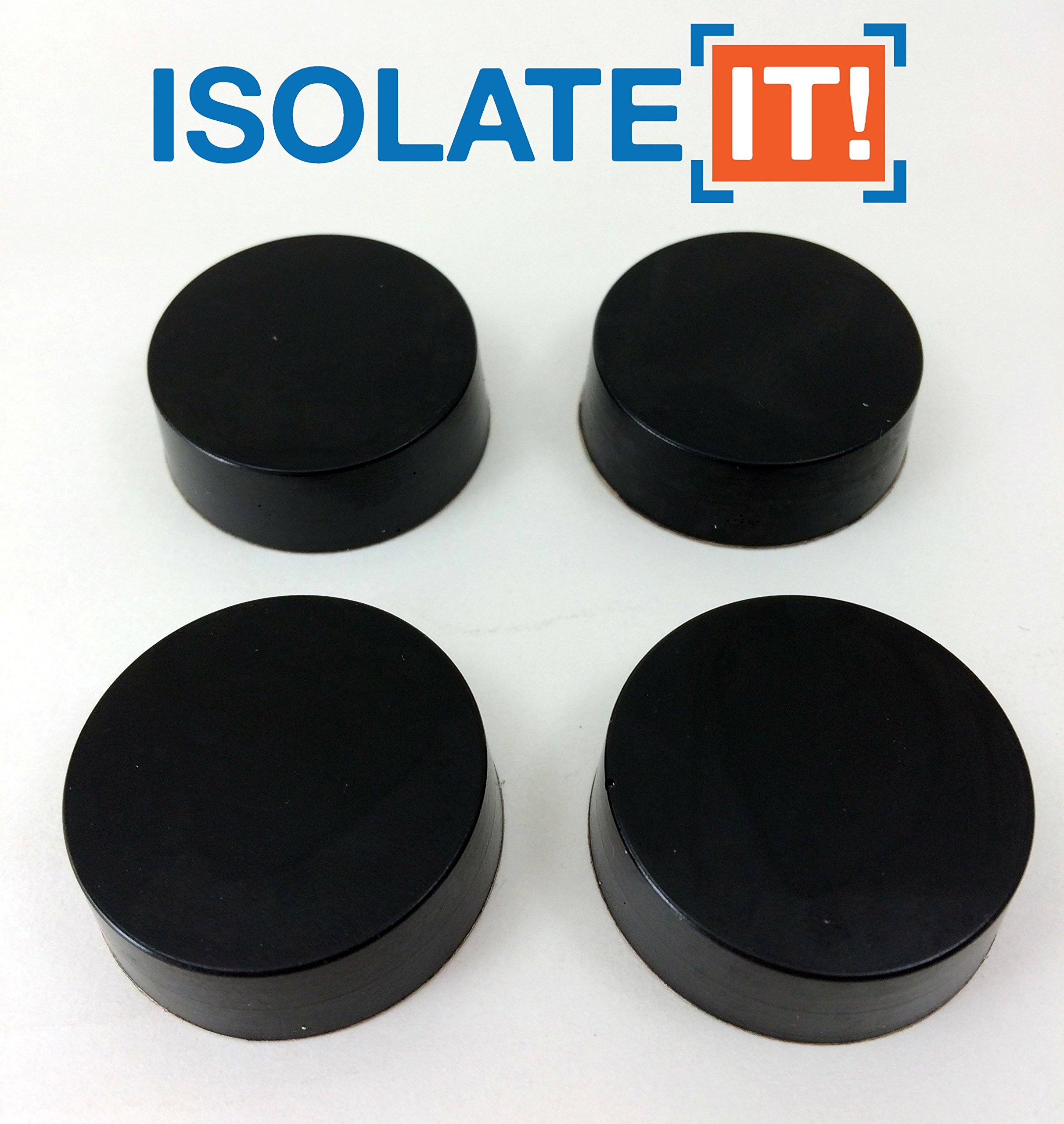Isolate It!: Sorbothane Vibration Isolation Circular Disc Pad 0.5'' Thick 1.5'' Dia. 50 Duro - 4 Pack