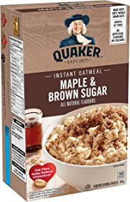Quaker Instant Oats Maple and Brown Sugar Oatmeal