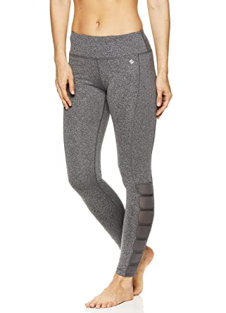 1400d104cf35 Nicole Miller Active Women's 7/8 Workout Leggings Performance Activewear  Pants w/Elastic Inserts