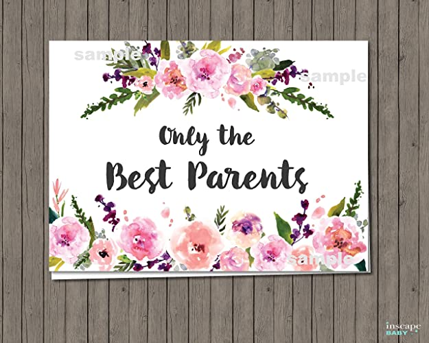 Amazon Pregnancy Announcement Card Only the Best Parents – Grandparents Announcement Baby