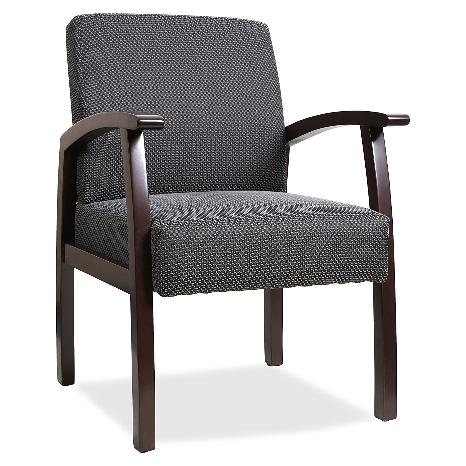 Lorell Guest Chairs, 24 by 25 by 35-1/2-Inch, Espresso/Charcoal S.P. Richards Company LLR68555