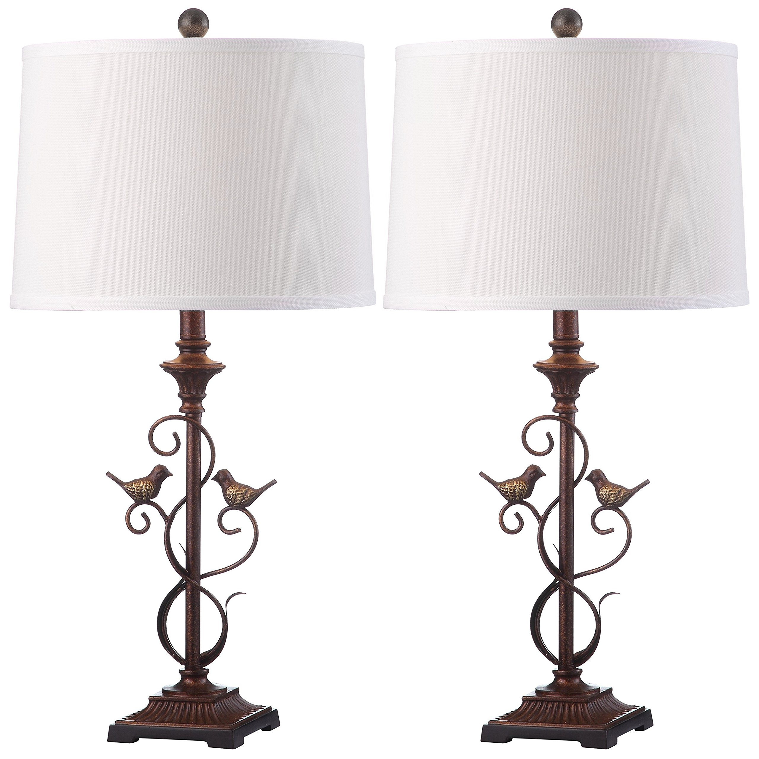 Safavieh Lighting Collection Birdsong Oil-Rubbed Bronze 28-inch Table Lamp (Set of 2) by Safavieh