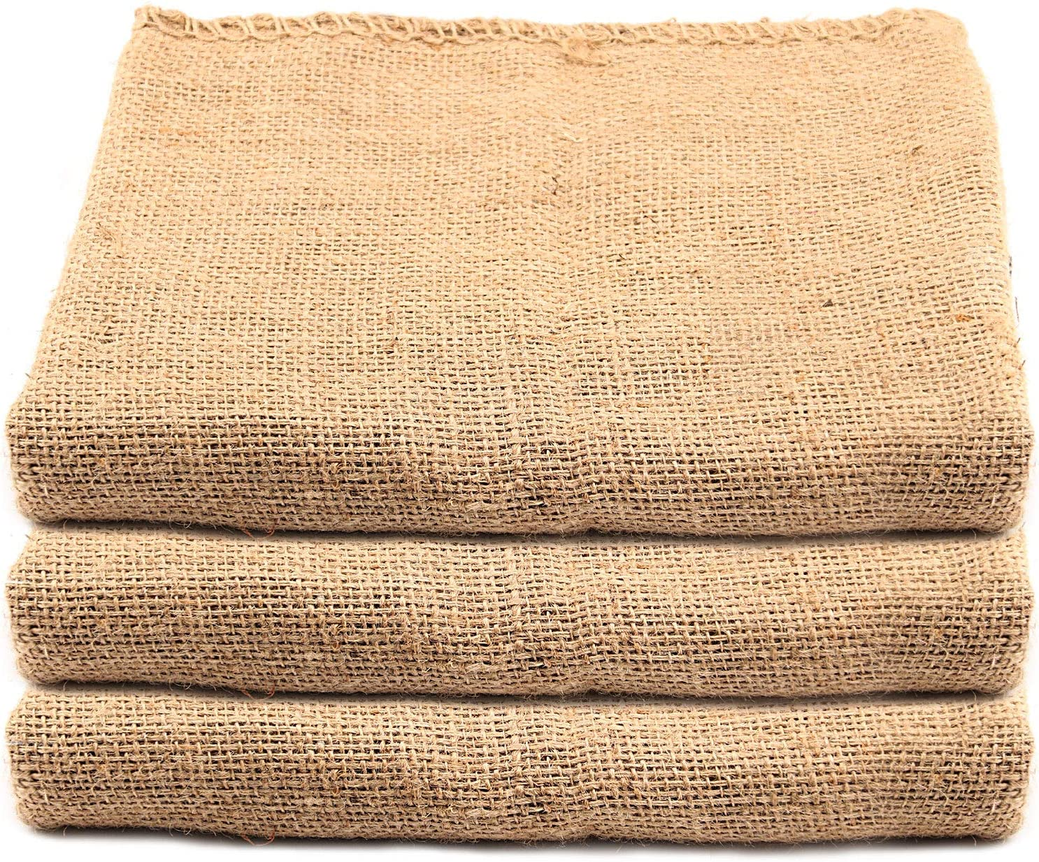 KEILEOHO 3 Pack 42 X 29 Inch Burlap Bags, Large Food Grade Burlap Sacks for Gardening, Planting Growing Bags, Potato Sack Race Bags for School Racing Game, Christmas Party Game…
