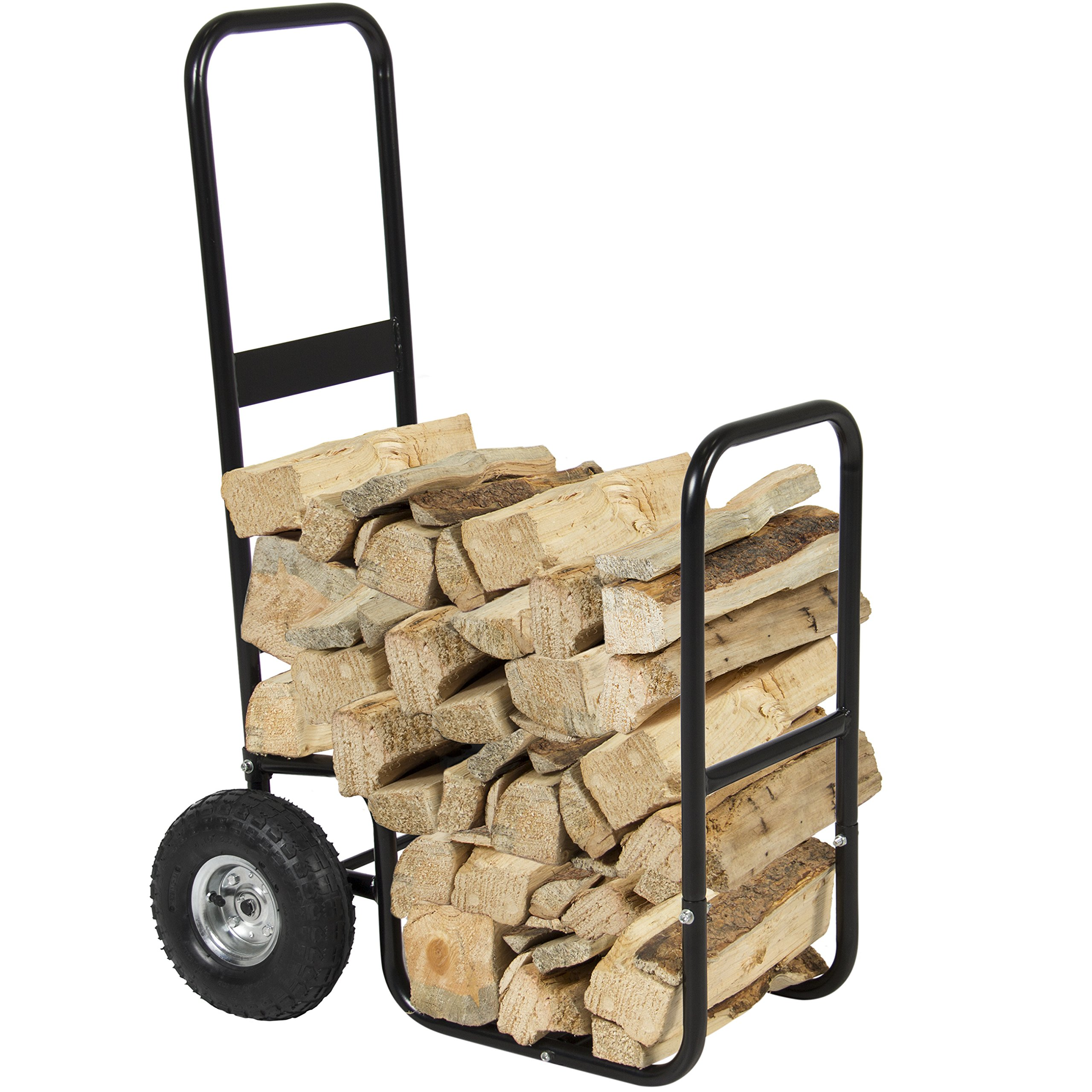 Best Choice Products Cart Log Carrier Fireplace Wood Mover Hauler Rack Caddy Rolling Dolly