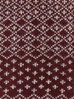 Wool Snowflake Pattern Crewneck Sweater 11-15-0870-048: Jasper