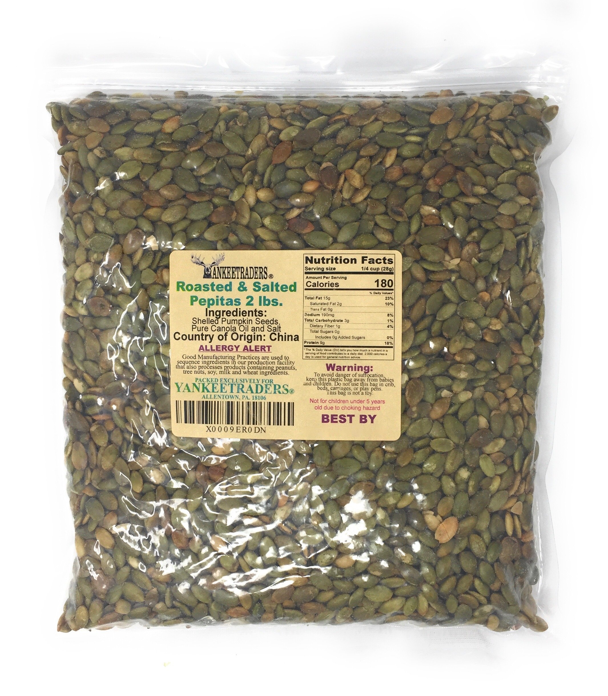 Amazon.com : Yankee Traders Brand, Pepita/Pumpkin Seeds - Roasted ...
