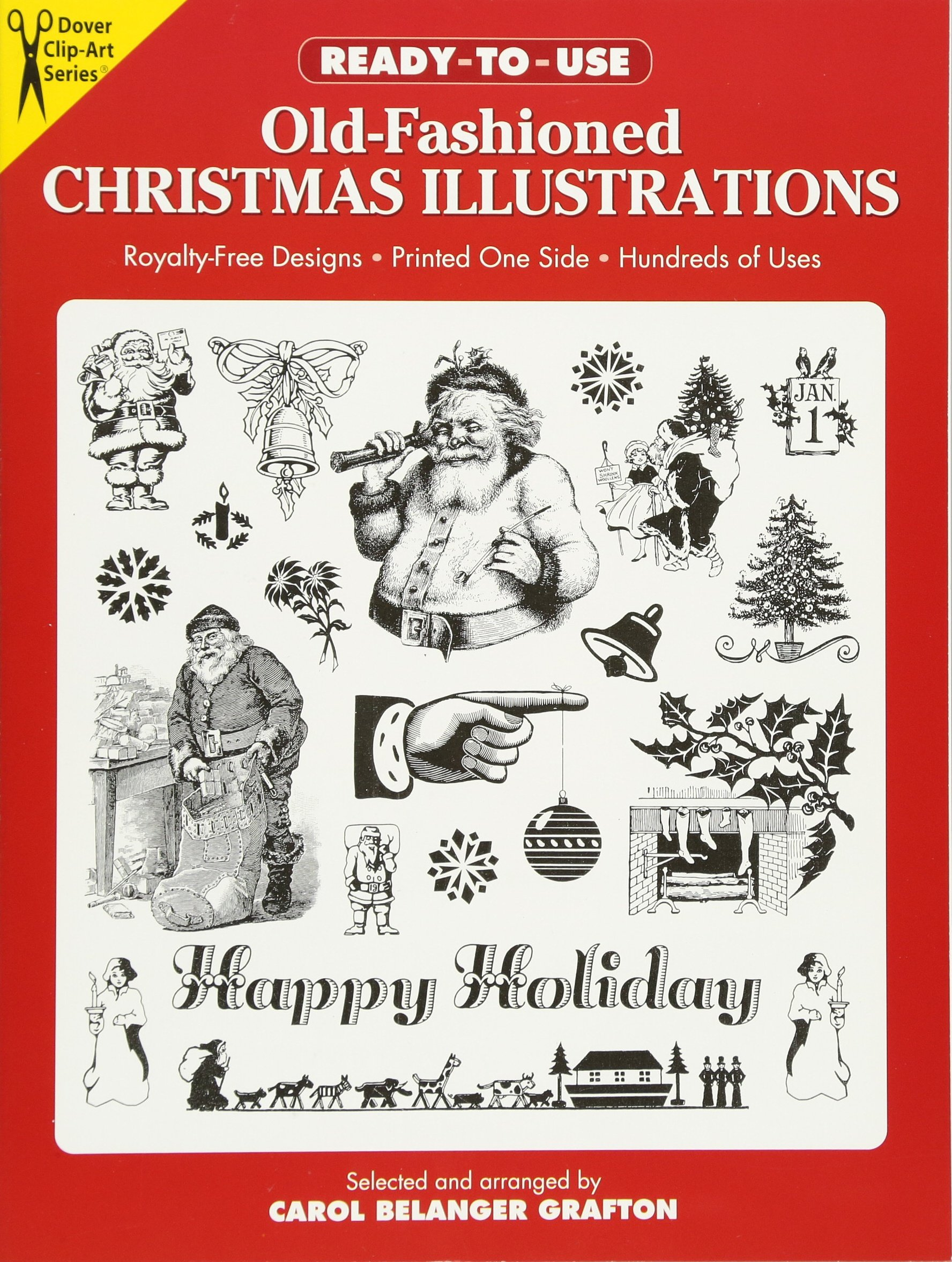 Christmas Illustrations.Ready To Use Old Fashioned Christmas Illustrations Dover