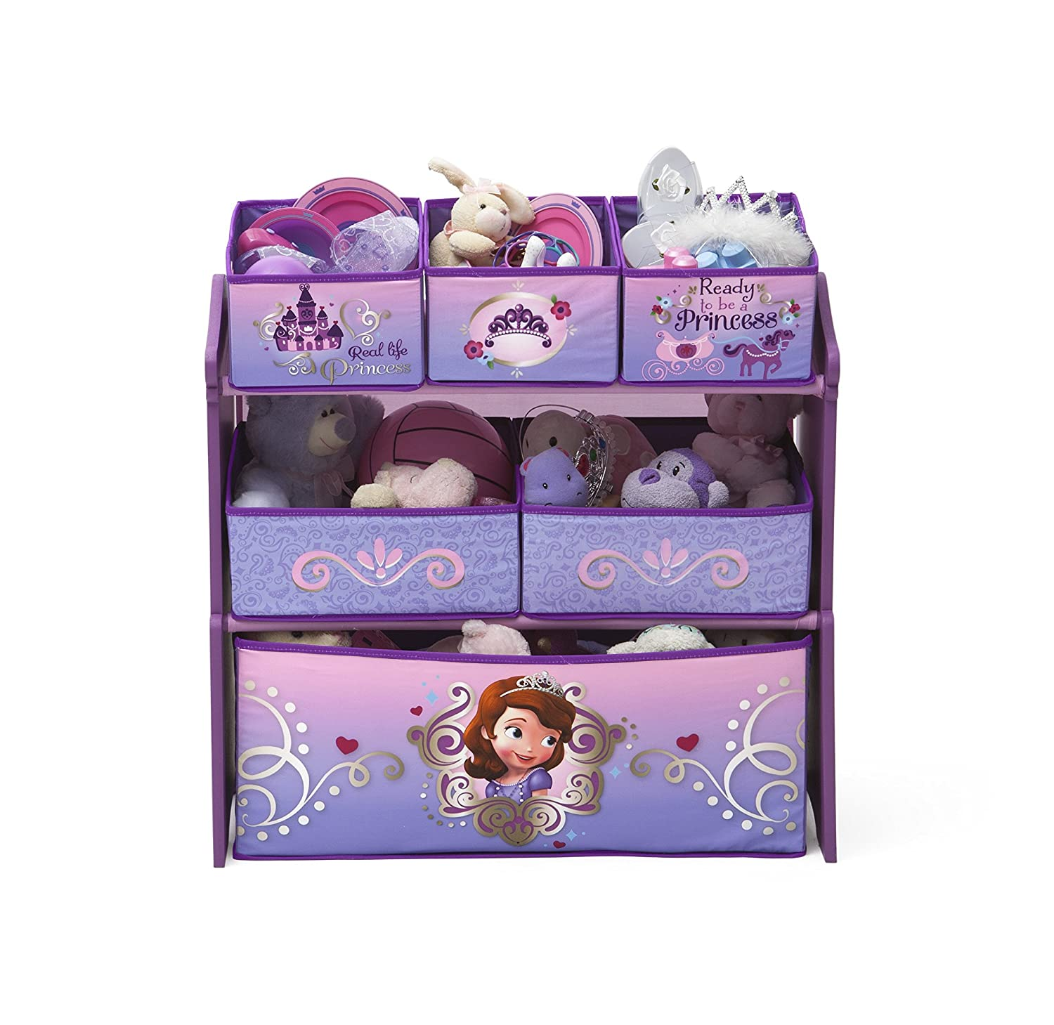 DELTA CHILDREN Meuble de rangement multi-Boites Princesse Sofia ...