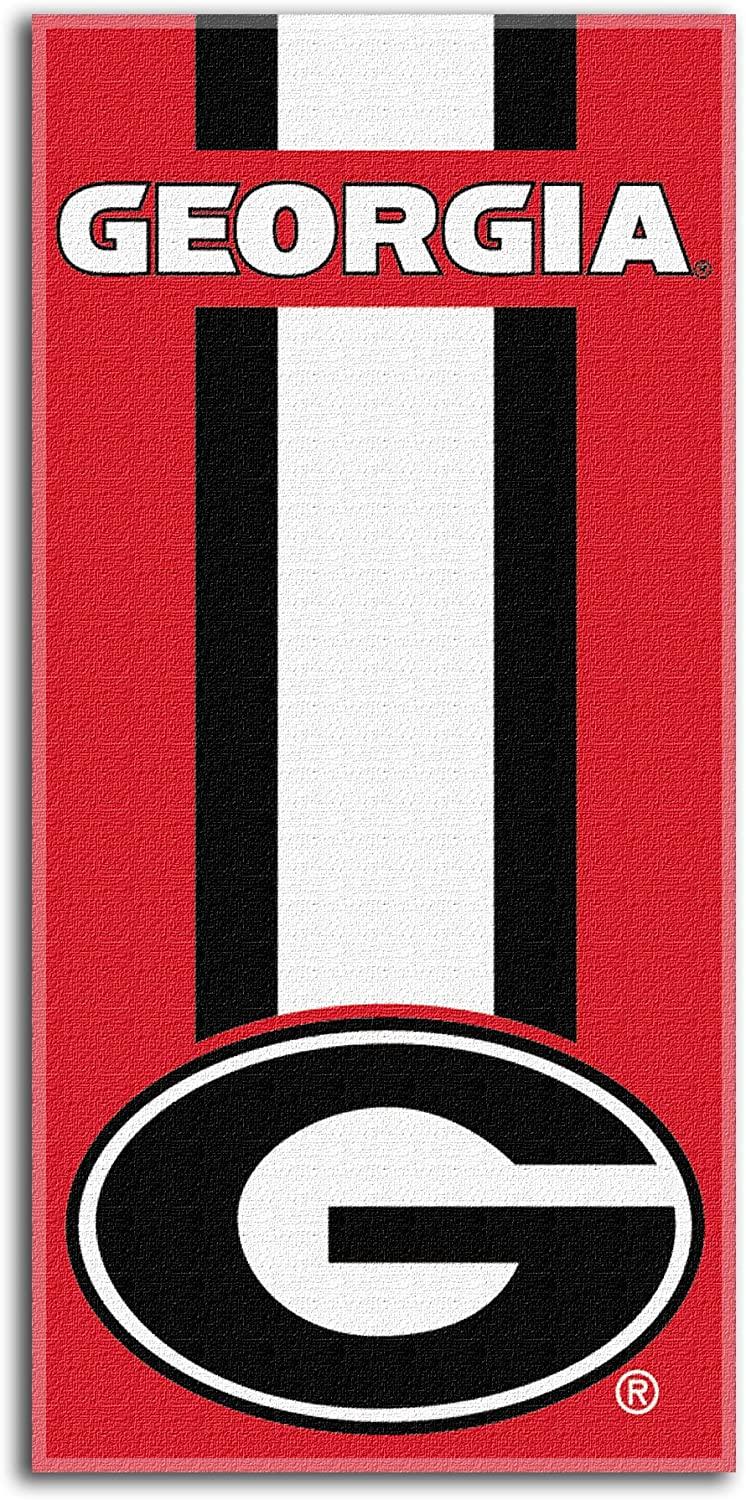 """Officially Licensed NCAA """"Zone Read"""" Beach Towel, Multiple Colors, 30"""" x 60"""""""