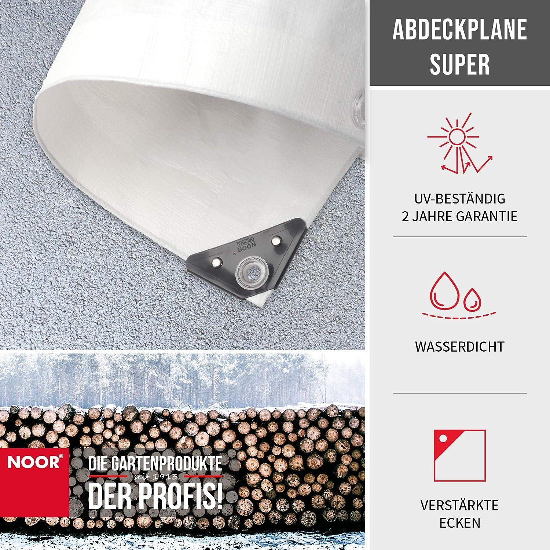 Abdeckplane Gewebeplane Noor super 5x6m 200g//m² weiß