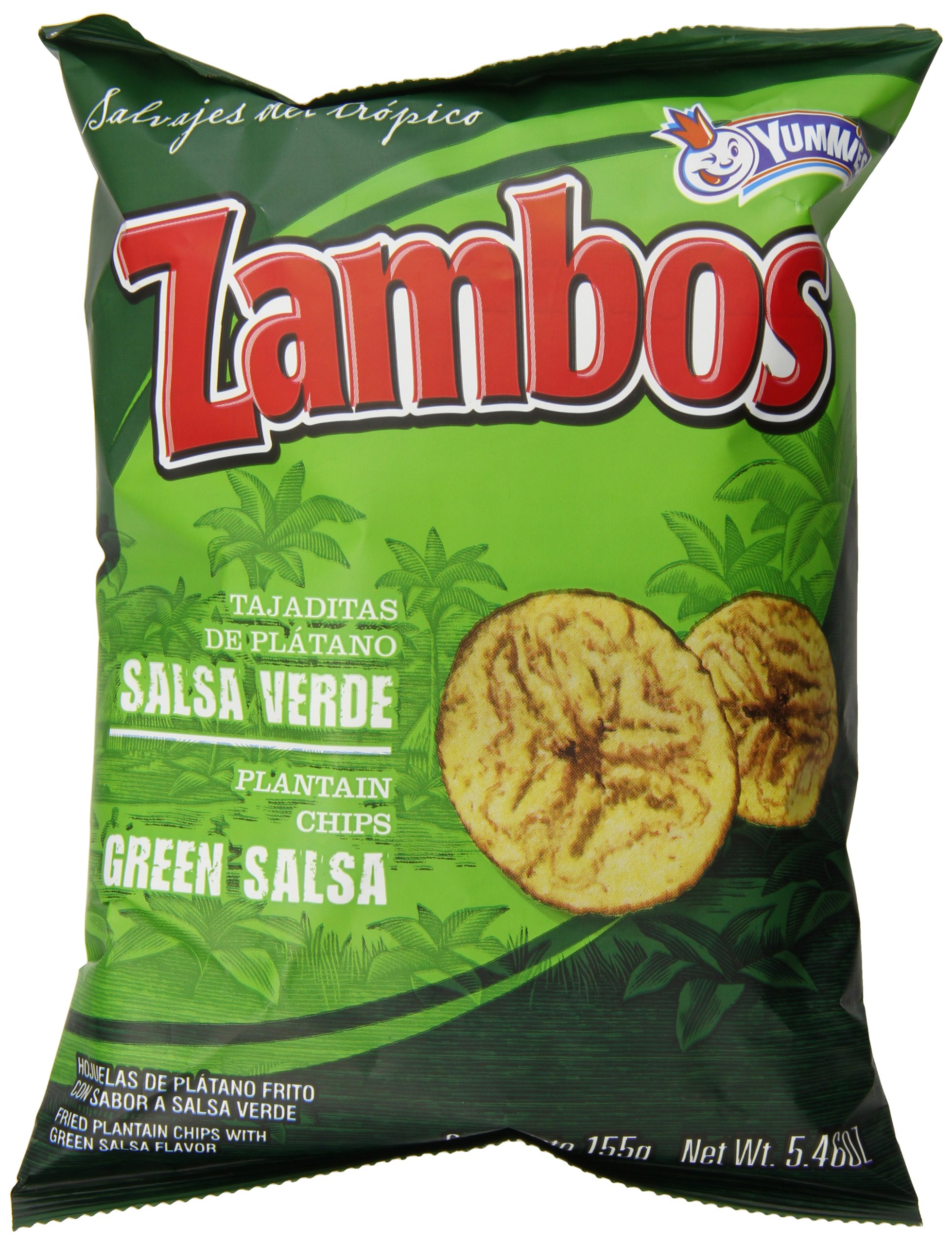 Mama Lycha Zambos Plantain Chips with Green Salsa, 6 Ounce