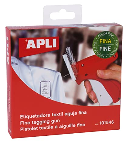 con 5 agujas de acero y 1000 p/úas de pl/ástico para etiquetas de ropa Pistola etiquetadora de Micro Trader