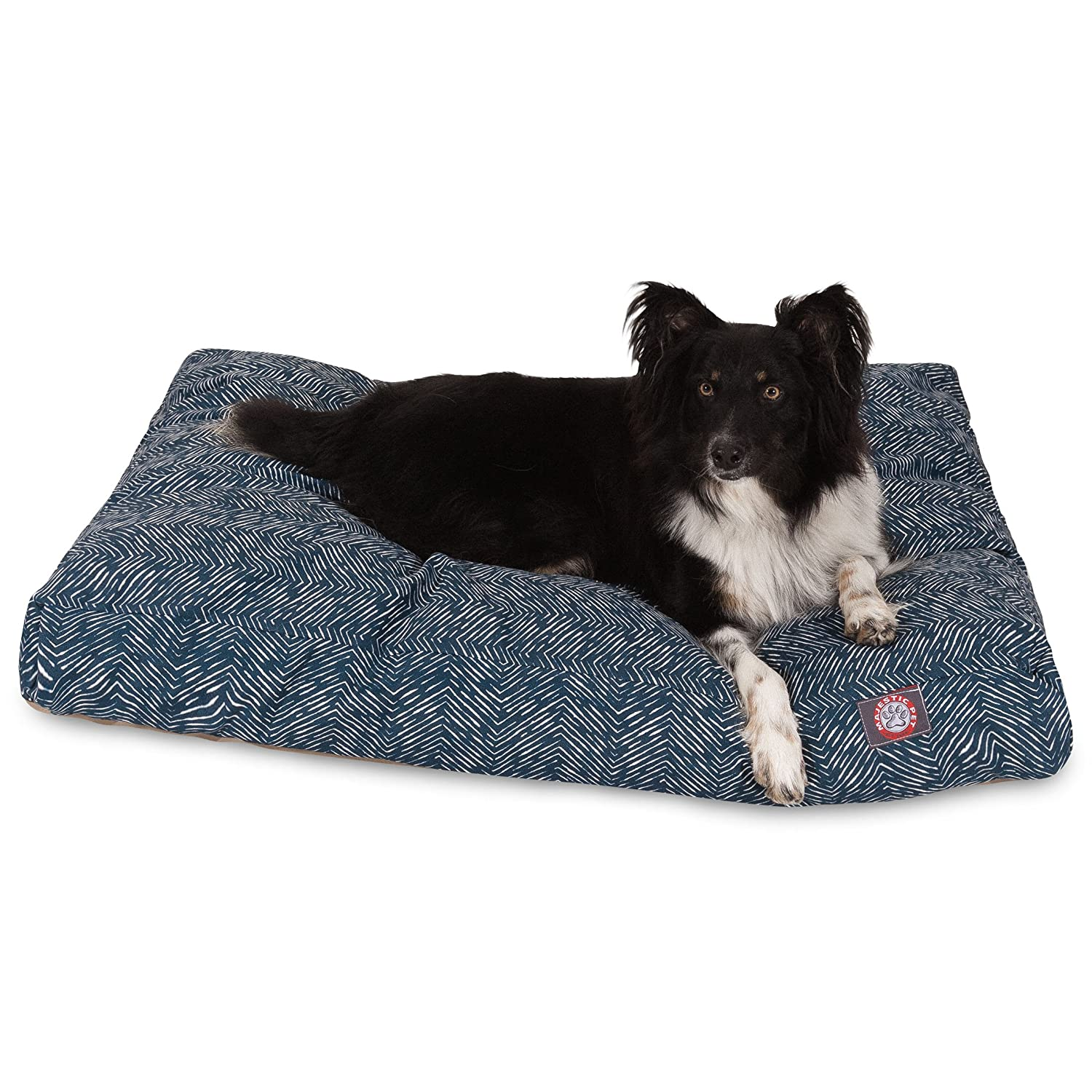 Majestic Pet Teal Native Rectangle Indoor Outdoor Pet Dog Bed with Removable Washable Cover Products