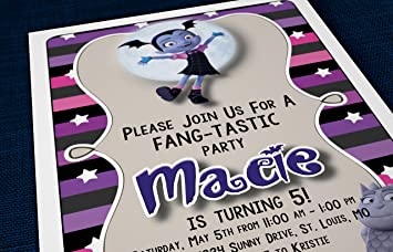 Custom Birthday Party Invitations   Vampirina, Personalized (10)