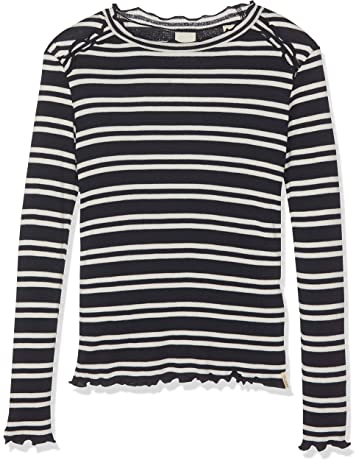 bba23f4fe9706 Kanz Hauts à Manches Longues Fille. Vos recommandations. Scotch   Soda  Fitted Long Sleeve Tee in Yarn Dye Stripes with Ruffles