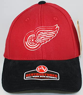 65965c17cb8 American Needle NHL Detroit Red Wings Twill and Corduroy Retro Logo Vault  DS Cap