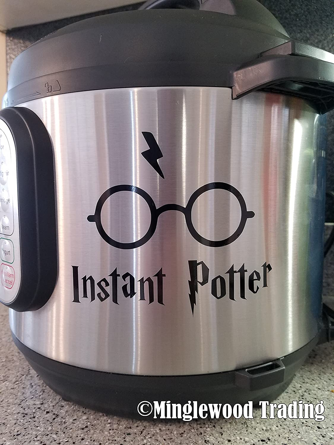 "Instant Potter 5"" x 4"" Vinyl Decal Sticker for Instant Pot InstaPot Harry - 20 Color Options - Black"