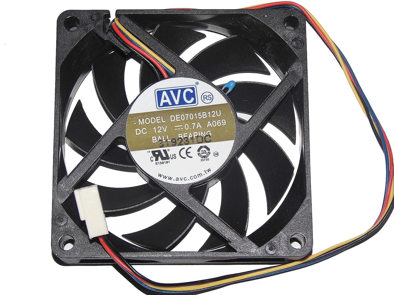 AVC 707015mm DE07015B12U 12V 0.7A 4Wire 7cm cooling Fan