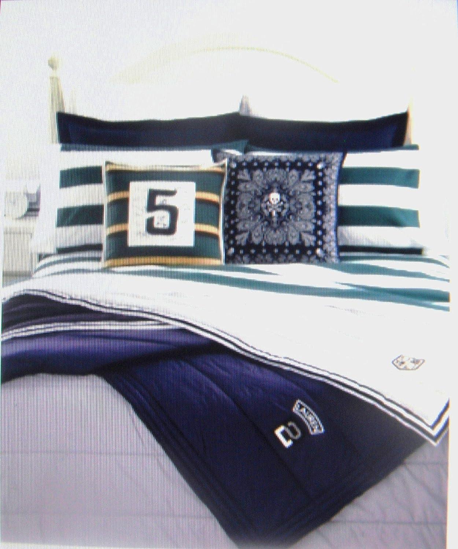 Lauren Ralph Lauren University Bedding Tate Twin Sheet Set- Green Stripe