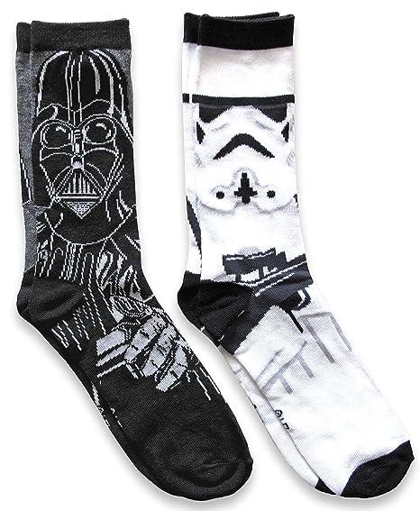 51ea387dff6 Amazon.com  Star Wars Mens Darth Vader   Stormtrooper Casual Crew Socks 2  Pack  Clothing