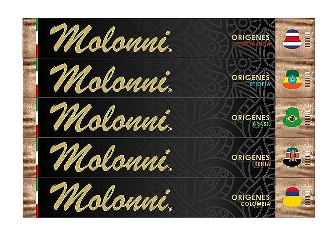 Molonni - Cápsulas de café - Surtido Orígenes - Compatible con Nespresso - 50 cápsulas
