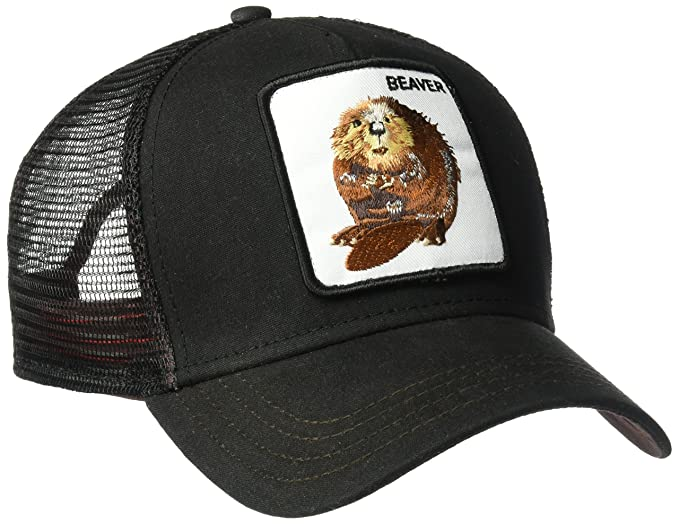 0ac651e1 Goorin Bros. Men's Animal Farm Trucker Hat, Black/Waxed Beaver, One Size