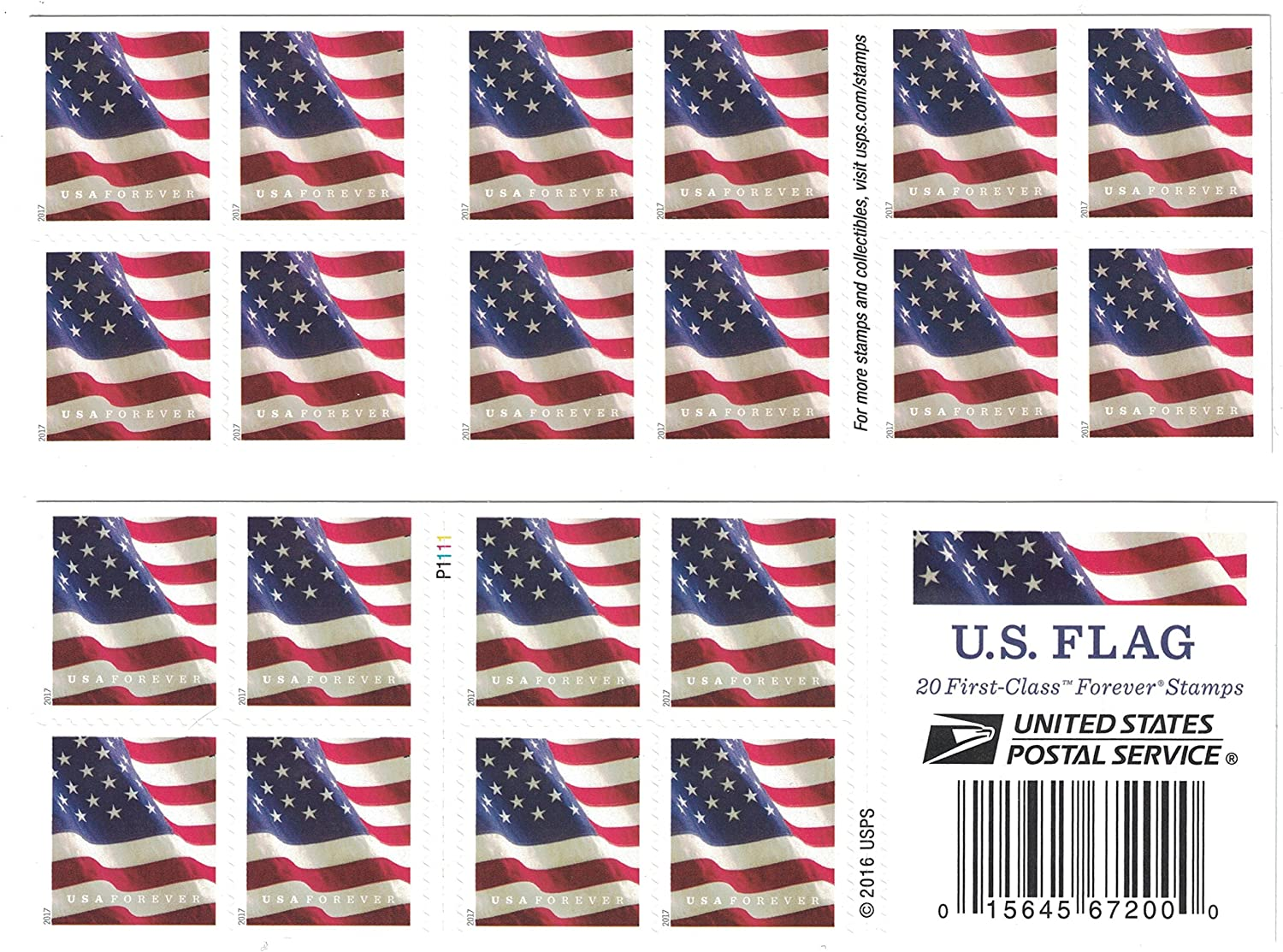 Usps Us Flag Forever Postage Stamps Book Of 20