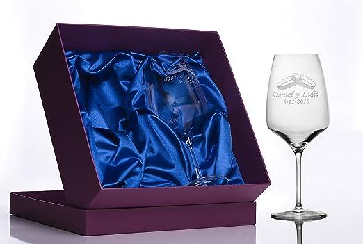 Migoya Copas de Vino Grabadas: Amazon.es: Hogar