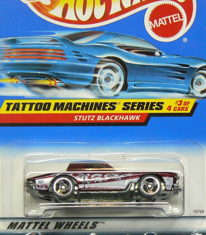 Hot Wheels 1:64 Scale 1997 Tattoo Machines Series STUTZ BLACKHAWK A5