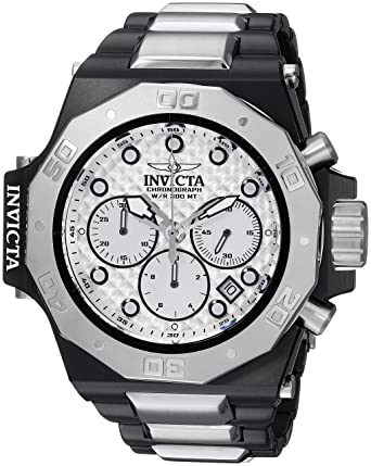 c6189d4c0 Invicta Men's Akula Quartz Watch with Stainless-Steel Strap, Silver, 26  (Model