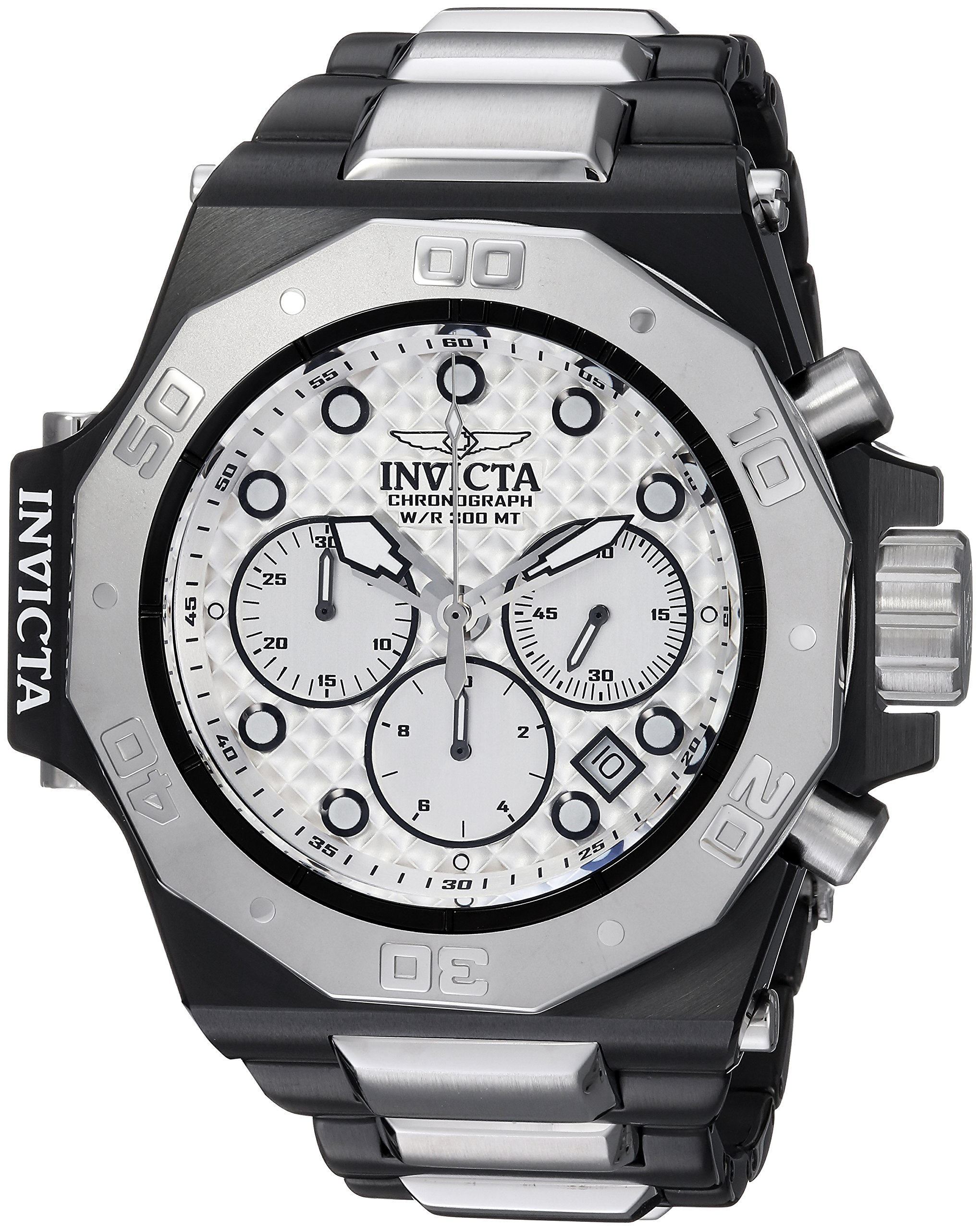 Invicta Men's 'Akula' Quartz Stainless Steel Casual Watch, Color:Silver-Toned (Model: 23098) by Invicta