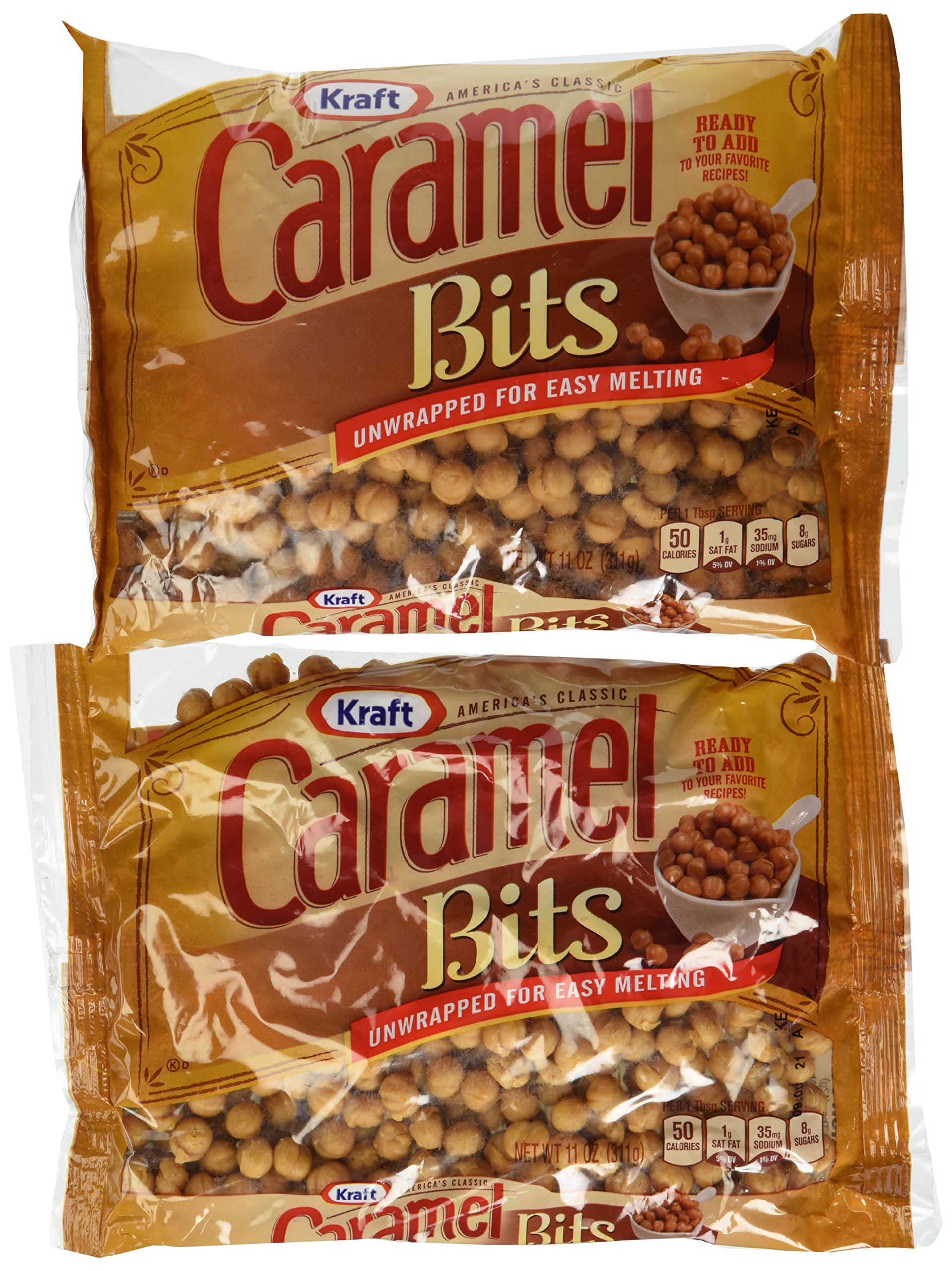 Kraft Caramel Candy Bits (11 oz Bags, Pack of 12) by Kraft