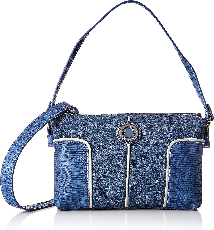 ctta caminatta Rompeolas, Bolso bandolera para Mujer, 7x16x25 cm (W x H x L) Azul (Marino)